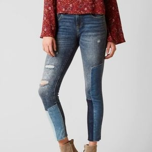 MISS ME Patchwork Destructed Skinny Jeans